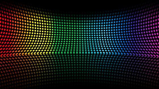 Neon colors in symetry wallpaper