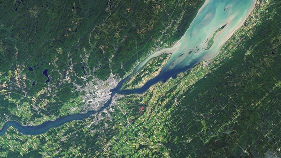 Satellite Image of Québec City in the Summer wallpaper