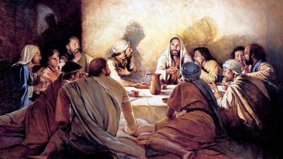 Risen Jesus With His Disciples wallpaper