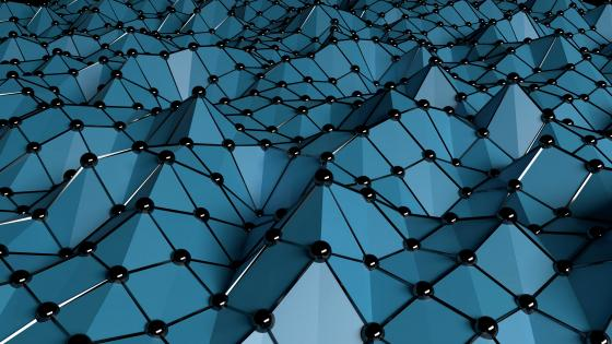3D Blue mesh wallpaper