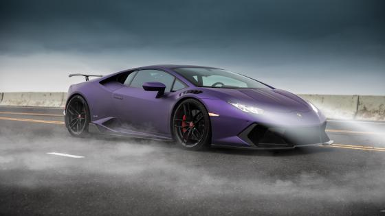 Purple Lamborghini Huracan wallpaper