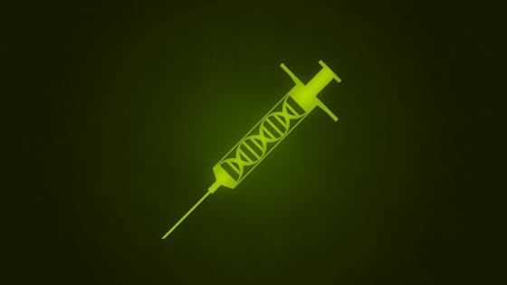 Green syringe wallpaper