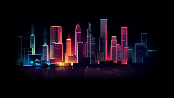 Neon city wallpaper