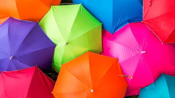 Umbrellas wallpaper