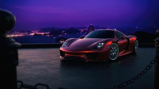 Porsche 918 Spyder side view wallpaper