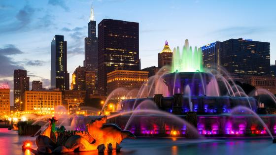 Buckingham Fountain, Millennium Park wallpaper