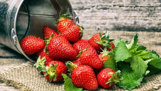 Ripe strawberries wallpaper