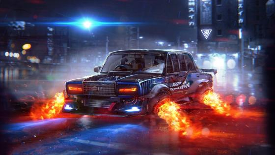 Futuristic Lada wallpaper