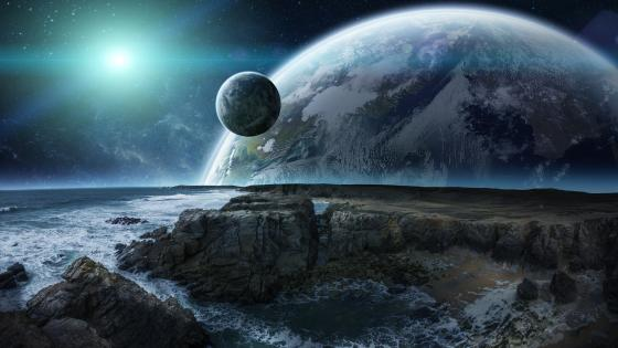 Alien planet surface wallpaper