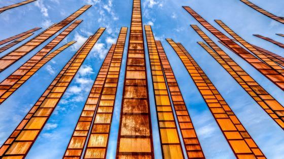 Grass Blades, art installation at the Seattle Center, Seattle, Washington wallpaper