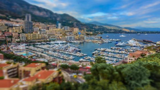 Monte-Carlo Tilt Shift Photo wallpaper