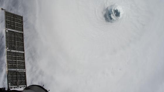 Hurricane Michael's Eyewall from the Space Station wallpaper