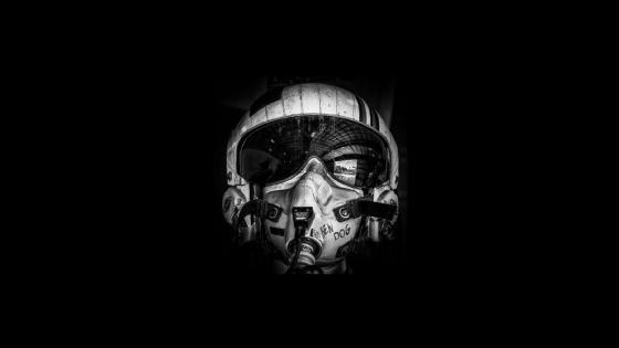 Fighter pilot mask wallpaper