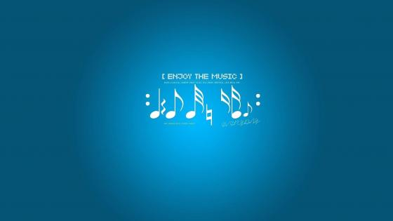 Enjoy the music wallpaper