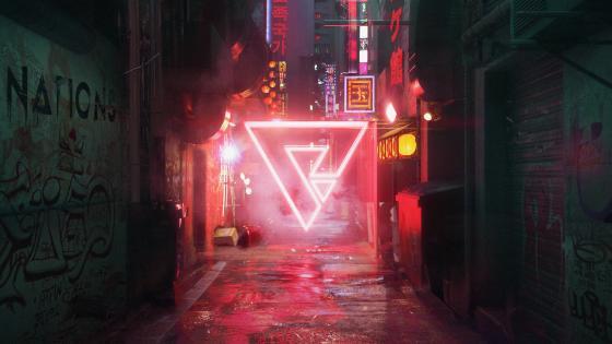Cyberpunk Neon Street wallpaper