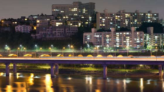 Riverside Expressway & the Han River wallpaper