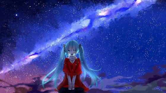 Sad anime girl wallpaper