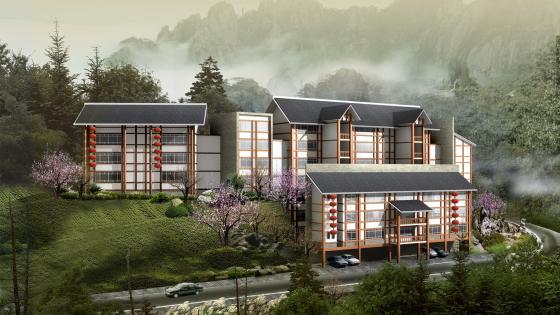 3D model houses wallpaper