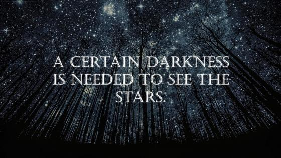 Darkness to see Stars wallpaper