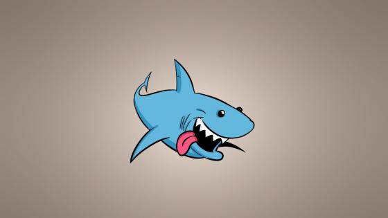 Cartoon shark wallpaper