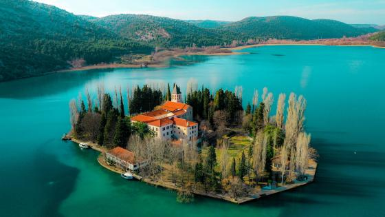 Visovac Monastery (Krka National Park) wallpaper