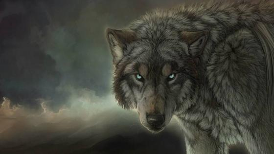 Wolf art wallpaper