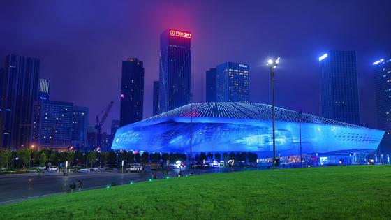 Dalian Donggang Business Area wallpaper