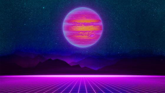 retrowave 8687 wallpaper