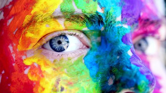 Colorful body art wallpaper
