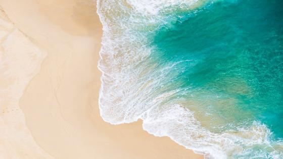 Seashore from above wallpaper
