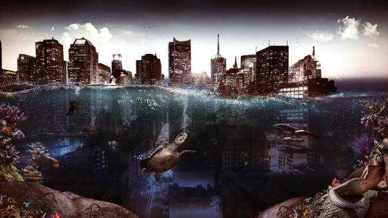 The Submerged City wallpaper