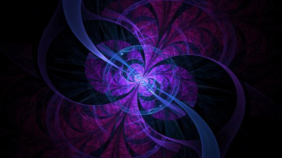 Blue and purple abstract digital art wallpaper