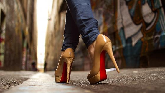High Heels On Street wallpaper