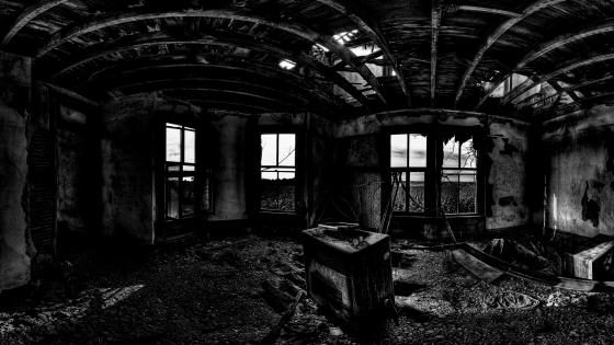 Abandoned room wallpaper