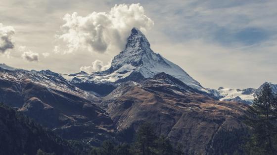 Matterhorn peak in a cloud wallpaper