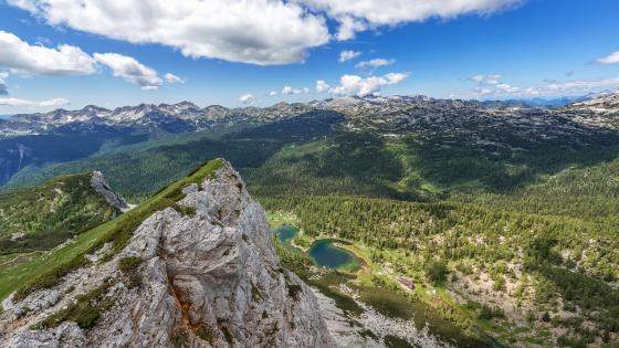 Beautiful view from Ticarica Mountain, Triglav National Park wallpaper