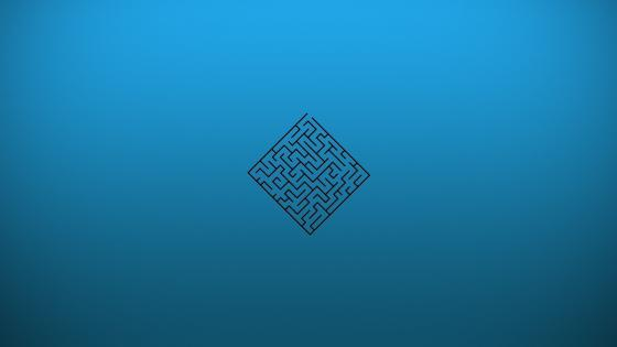 Blue labyrinth wallpaper