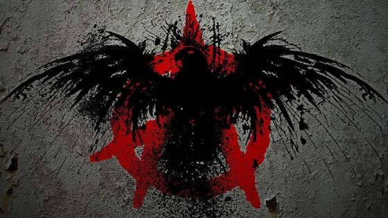 Black and red eagle wallpaper