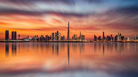 Dubai reflection wallpaper