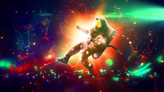 Astronaut in the wormhole wallpaper