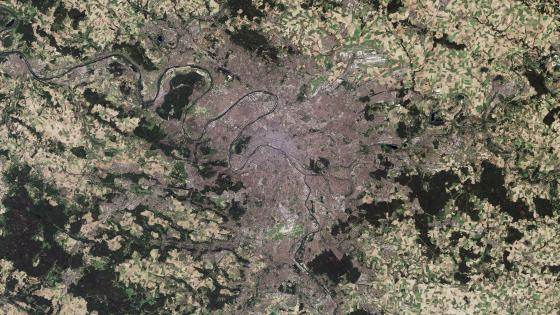 Satellite Image of Paris wallpaper