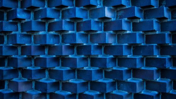 Blue bricks wallpaper
