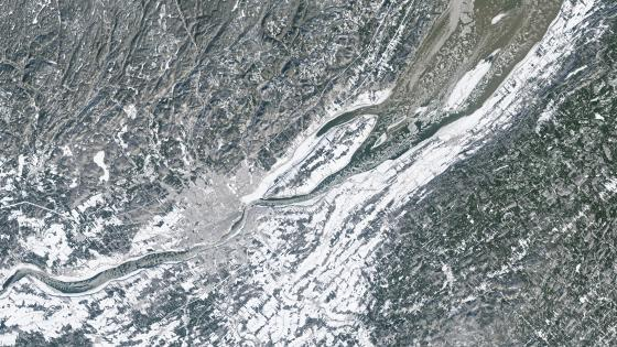 Satellite Image of Québec City in the Winter wallpaper