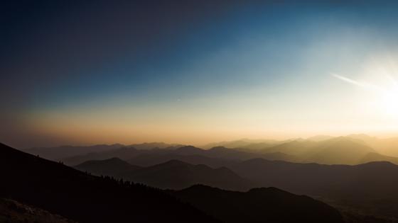 Endless mountains wallpaper