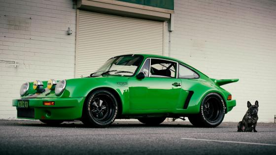 Green Porsche 911 wallpaper