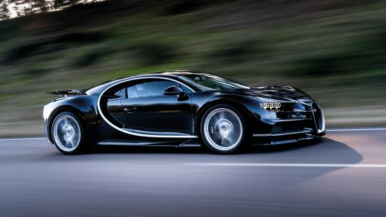 Black Bugatti Chiron wallpaper