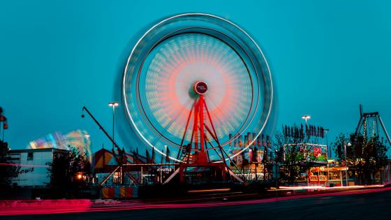 Ferris wheel long exposure photography wallpaper