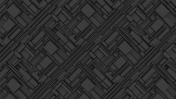 3D Dark grey complex structure wallpaper