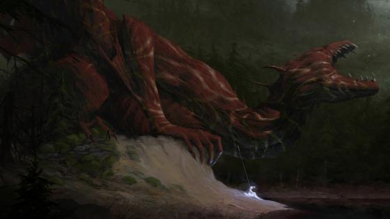 Suffering dragon wallpaper