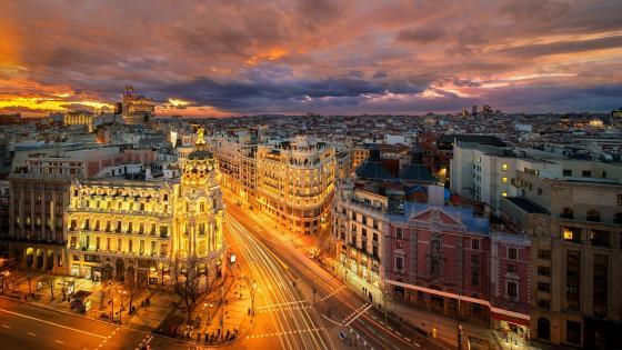 Madrid by Night wallpaper